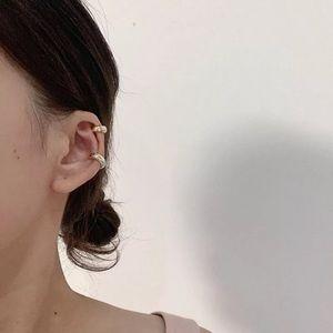 Set of 2 Gold Ear Cuff Earrings